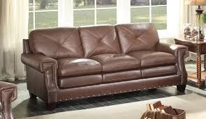 Homelegance Greermont Sofa - Top Grain Leather Match - Brown