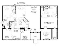 3 Bedroom Open Floor House Plans Creative Design New Ideas