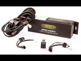 how to install wiring harness led light bar youtube lightforce led 215 wiring diagram at Lightforce Wiring Harness