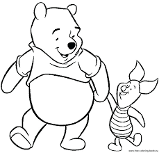 Baby The Pooh Coloring Pages As A Winnie Halloween Sheets Online