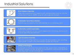 industrial solutions business line overview 06 2016 linkedin 5 industrial solutions wire harness