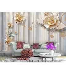 Buy 3D Golden Rose Flower Non Woven ...