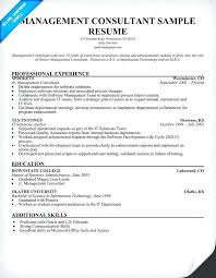Management Consulting Resume Sample Management Consulting Resume