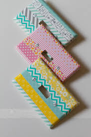 Washi Tape Light Switch Covers
