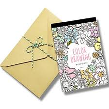 coloring postcards. Simple Postcards Stress Relieving Adult Coloring Books Color Therapy Stationery Cards Set  All Different 32 Postcards Intended O