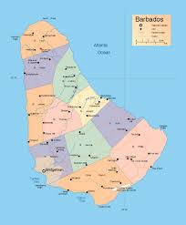 detailed administrative map of barbados with roads and cities