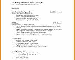 High School Resume Format Staruptalent Com