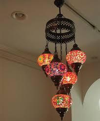 china handicraft mosaic art turkish hanging lamps chandelier 5 set up china mosaic chandelier pendant lighting