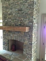 dry stack stone fireplace natural stacked decoration idea in veneer