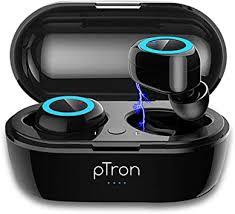 pTron Bassbuds in-Ear <b>True</b> Wireless <b>Bluetooth</b> 5.0 <b>Headphones</b> ...