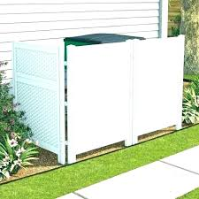 outdoor trash can holder with wheels r garbage storage decorative cans outside and attached lids plans
