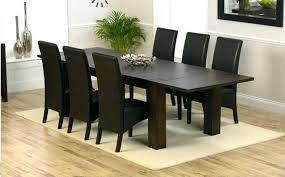 dark wood kitchen table 6 dining sets black wooden and chairs small