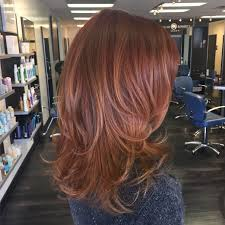 Red And Copper Toned Balayage By