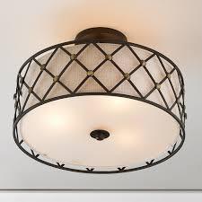 modern lighting shades. Modern Studded Lattice Ceiling Light Bronze Lighting Shades N