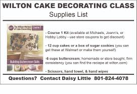 Michaels Decorating Classes Michaels Cake Decorating Class Supply List Course 2 Cake
