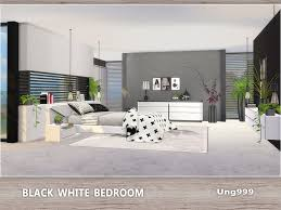 black white bedroom on the sims resource sims 3 wall art with ung999 s black white bedroom
