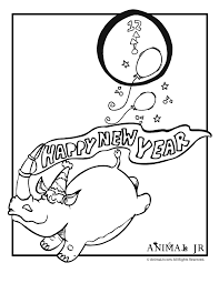 Small Picture New Years Coloring Pages Funny Animals Animal Jr