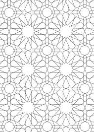 Islamic Art Coloring Pages Islamic Ornament Mosaic Coloring Page
