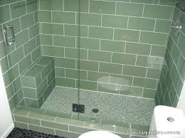 glass mosaic shower floor tile pictures of using for design intended inspirations 4