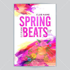 Spring Flyer Template Spring Beats Musical Party Template Dance Party Flyer Night Party 7