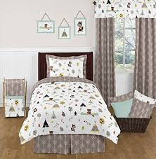 boys twin bed sheets. Brilliant Sheets Outdoor Adventure Nature Fox Bear Animals 4 Piece Boys Twin Bedding Set  Sweet Jojo Designs In Bed Sheets S