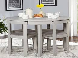 amazon 5 piece pact round dining set home living room from gray round kitchen table