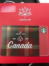 starbucks card canada 150th starbucks gift card canada 150 gift cards gift vouchers