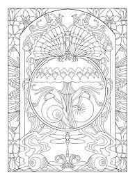 art nouveau coloring book and art coloring pages art nouveau coloring book pdf srd