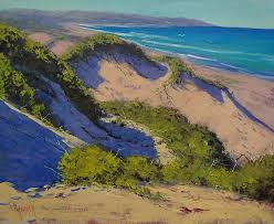 beach dunes painting sand dunes oil painting by graham gercken