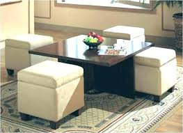 round coffee table storage coffee table storage ottoman coffee table with 4 ottomans round coffee table