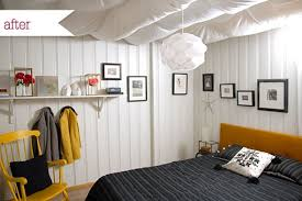 Unfinished Basement Bedroom Ideas Roundup 5 Scary Basements Turned Dreamy  Bedrooms Curbly Remodelling
