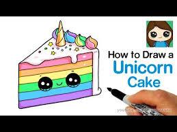 How To Draw A Cute Unicorn Birthday Cake Easy Miukidstv