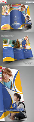 tri fold school brochure template junior school promotion trifold brochure template brochure
