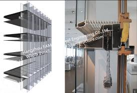 double glass wall ventilated facade office building glass curtain wall stick built system