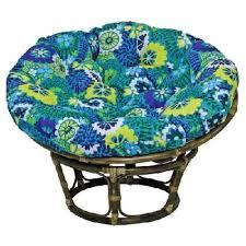 blazing needles outdoor print papasan chair cushion