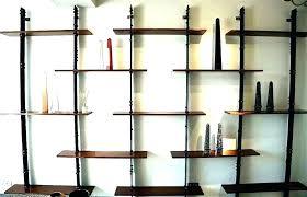 decorative wooden wall shelves black bookshelf metal wood shelf galvanized and
