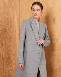 Пальто прямое с застежкой сбоку в интернет-магазине ...