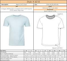 Mens T Shirt Size Chart Mens Short Sleeve T Shirt