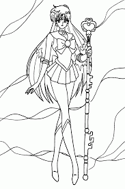 Small Picture Sailor Pluto Cool Coloring Pages For Kids hdW Printable Sailor