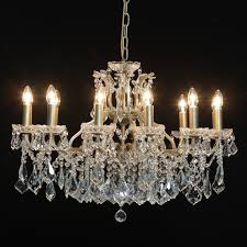 large shallow twelve arm chandelier french image 4