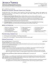 sample resumes for teachers