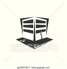 Vector royalty free library earthquake clipart animated. Vector Illustration Vector Earthquake V Icon With Damaged House Isolated On White Background Natural Disaster Sign Or Symbol Eps Clipart Gg100315517 Gograph