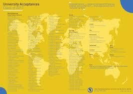 university acceptances the international school of kuala lumpur list of universities