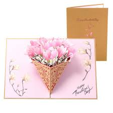 Teachers Birthday Card Teachersday 3d Pop Up Gift Card Creative Magnolia Cake