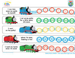 Free Potty Training Reward Chart And Stickers Thomas Friends Potty Training Chart Potty Training Concepts
