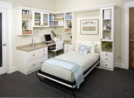 antique white office with twin wall bed transitional home office bed office