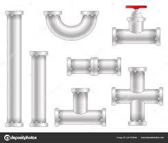 Plastic Pipe Design Creative Vector Illustration Of Plastic Water Oil Gas