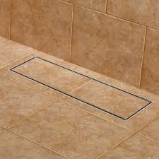 441155 24 wide linear shower drain brushed stainless steel