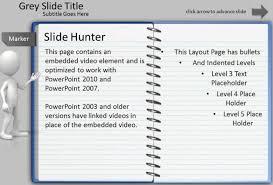 How To Create A Template In Powerpoint 2010 Notepad Powerpoint Template With Turn Page Animation Effect