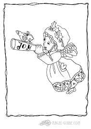 Angel Coloring Pages Angel With Trumpet